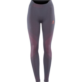 Odlo Suw Performance Warm Leggings Dames, odyssey gray-diva pink